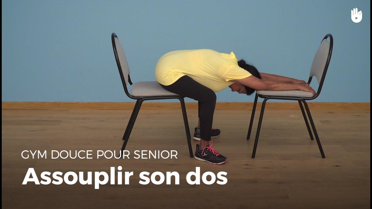 exercice d 39 assouplissement du dos gym douce youtube. Black Bedroom Furniture Sets. Home Design Ideas