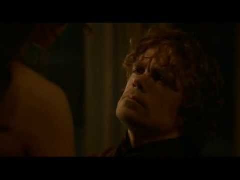S3E7 Game of Thrones: Tyrion tries to cheer up Shae the Funny Whore