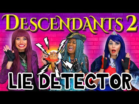 Descendants 2 Lie Detector Test with Uma, Mal and Evie. Totally TV