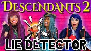 Descendants 2 Lie Detector Test with Uma, Mal and Evie. Totally TV