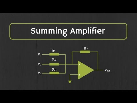 Op-Amp: Summing Amplifier (Inverting and Non-Inverting Summing Amplifiers)