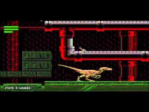 Sega Jurassic Park Full Raptor Walkthrough