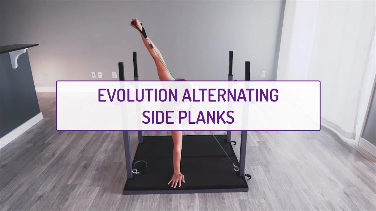 Home Exercises | Evolution Alternating Side Planks | Core | Obliques
