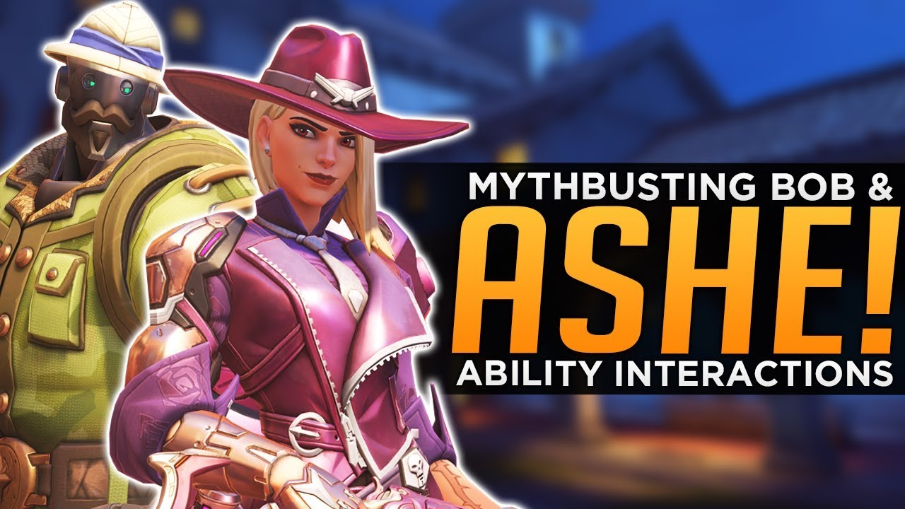 Overwatch ASHE Amp BOB Mythbusting All Ability Interactions YouTube