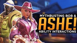 Overwatch: ASHE & BOB Mythbusting! - All Ability Interactions