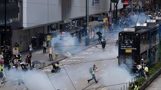 Hong Kong Protesters Clash With Police After China Tightens Grip