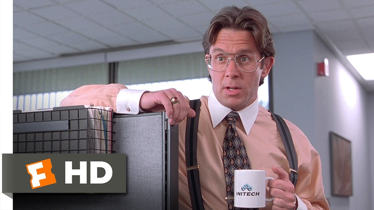 Office space 1 5 movie clip did you get the memo? 1999 hd