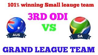 AUSTRALIA VS SOUTH AFRICA 3RD ODI DREAM 11 TEAM & PLAYING 11 TEAM, GRAND LEAGUE TEAM OF AUS VS SA