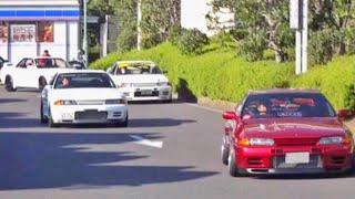 R32集団❗️大黒PA R32GTR 加速サウンド/10+ R32 GT-R touring sound in Japan.