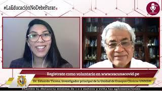 Tema:  Hoy inician inscripciones de voluntarios para ensayos clínicos de vacuna COVID-19
