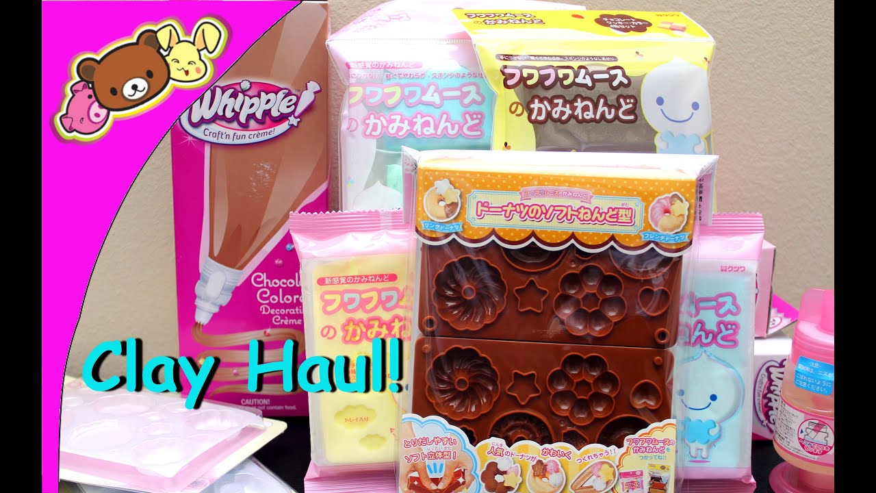 Squishy Haul From Thailand : FUWA FUWA CLAY, MOLDS, AND WHIPPLE HAUL! FunnyDog.TV