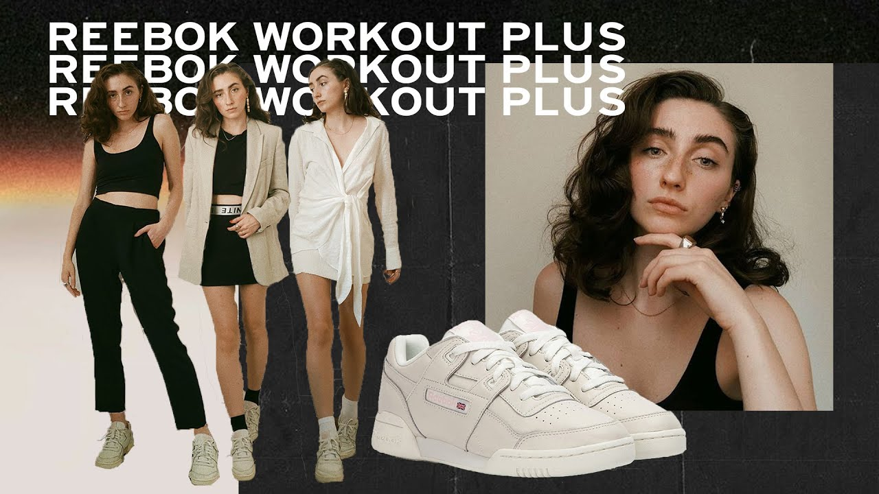Reebok Workout Plus sneakers outfits (on feet)