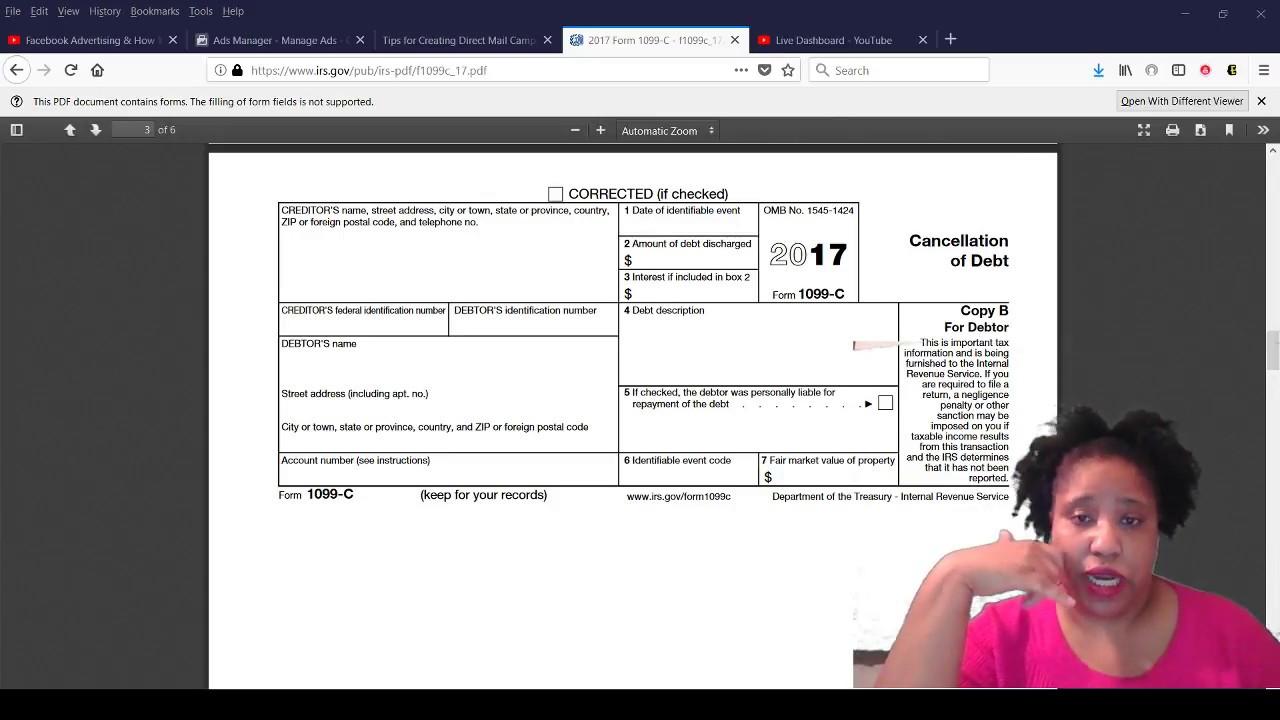1099 C Cancellation Of Debt Debt Settlement Youtube