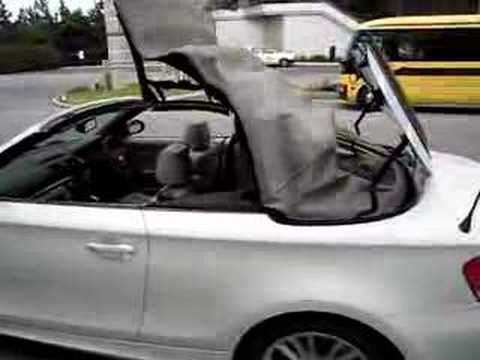 bmw 120i cabriolet roof action youtube. Black Bedroom Furniture Sets. Home Design Ideas