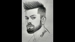 #sketch of The face of Virat Kohli........