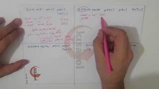 Kuvvetli Asit - Bazlarda pH - pOH , Nötralleşme ve Titrasyon