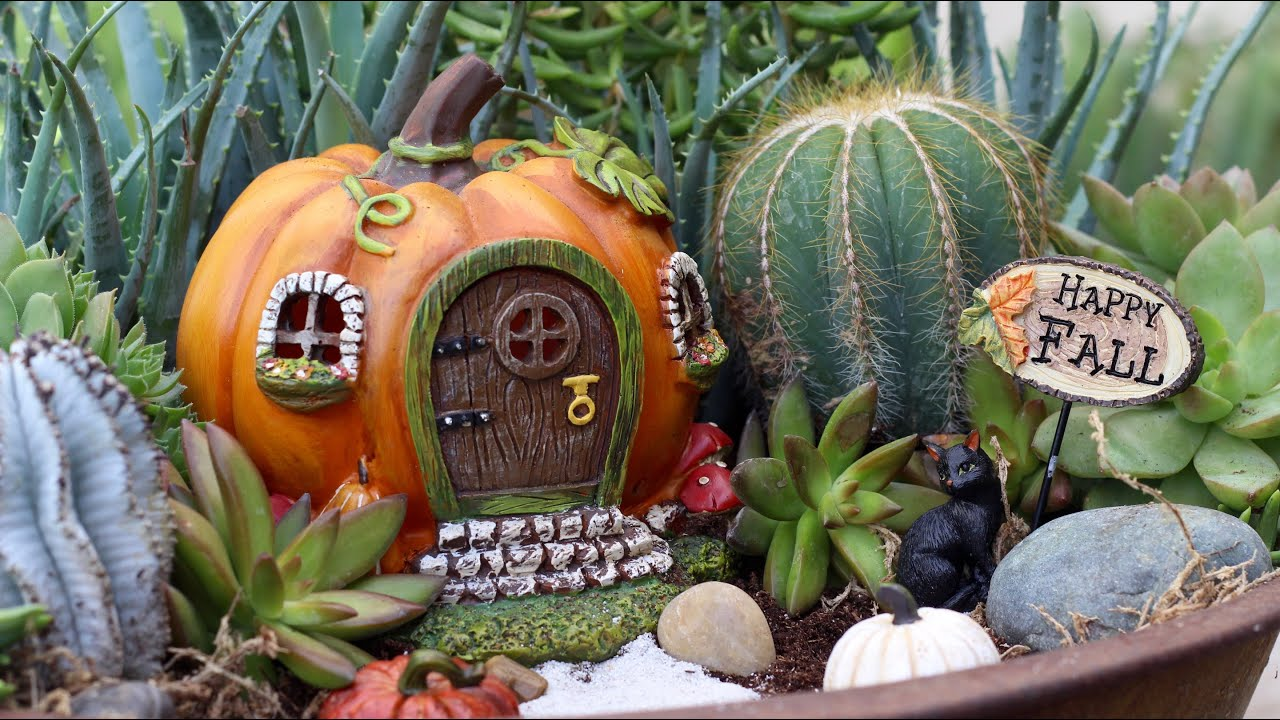 Fall Fairy Garden Inspiration   YouTube