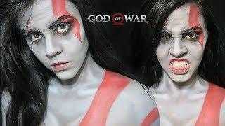 God of War : Kratos 🔪- Female version Simple Makeup Tutorial