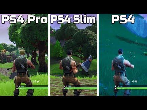 Fortnite   PS4 Pro VS PS4 Slim VS PS4   Graphics Comaprison