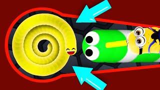 Slither.io - EPIC BIGGER SNAKE #2 // THE BIGGEST SNAKE (Slitherio Funny/Best Moments)