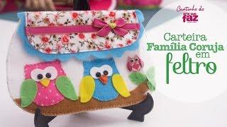 Carteira família coruja em feltro por Vanessa Iaquinto