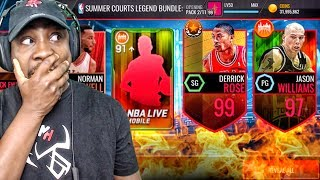 LEGEND SUMMER PACK OPENING & 99 OVR DERRICK ROSE! NBA Live Mobile Gameplay Ep. 141