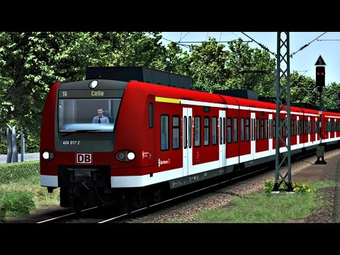 Let's Play - Train Simulator 2017 | Mit der S-Bahn Hannover nach Celle: Kommentiertes Gameplay von Kev. Ich würde mich sehr freuen, wenn euch das Video gefällt und ihr ein Kommentar und Bewertung da lassen würdet!  Heute fahren wir mit der (S6) von Hannover Hbf nach Celle. Das ganze mit der Br424 auf der Strecke Hamburg - Hannover. Mit Strecken Update und Sound update !  Meine Facebook Seite: https://www.facebook.com/pages/Landwirtschaft-KG/681822391848610?ref=hl  SoundUpdate: http://rail-sim.de/forum/wsif/index.php/Entry/1494-RSC-BR424-UpdatePack-Ziele-Linien-Sound-etc/  StreckenUpgrade: http://www.rail-sim.de/train-simulator/news/sonstige-news/trainworks-hamburg-hannover-upgrade-1-0/