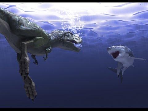 Megalodon vs Tyrannosaure (NEW MOVIE) - YouTube