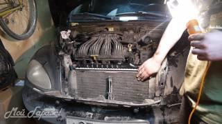 Автобудни. 11. Замена радиатора охлаждения двигателя на Chrysler PT Cruiser.