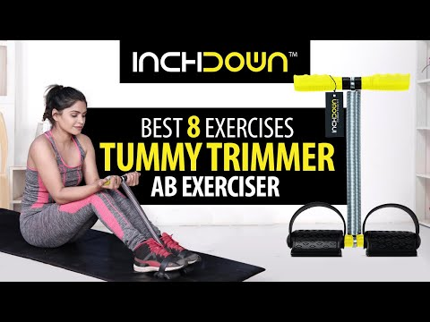 8 BEST TUMMY TRIMMER AB EXERCISE for MEN and WOMEN | How to LOSE WEIGHT FAST AT HOME | INCHDOWN