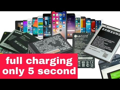 Charge your phone only 5 second || with use supercapacitors (Hindi)