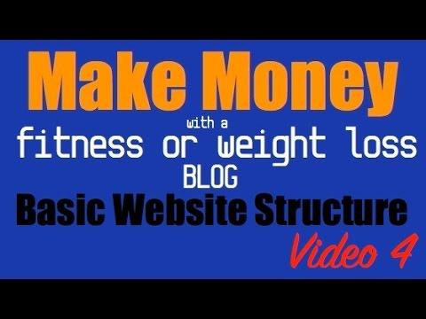 Basic Website Structure For Your Fitness/Weight Loss Blog - Video 4