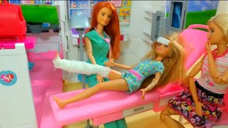 Barbie Eliza road accident and admit hospital   | Barbie doll 2019 | Toys and kids videos 2019