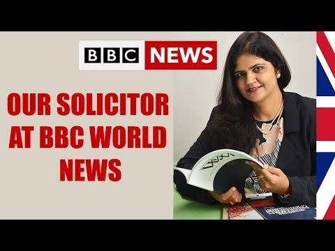 Solicitor Falguni Parekh at BBC World News on UK Student Visa