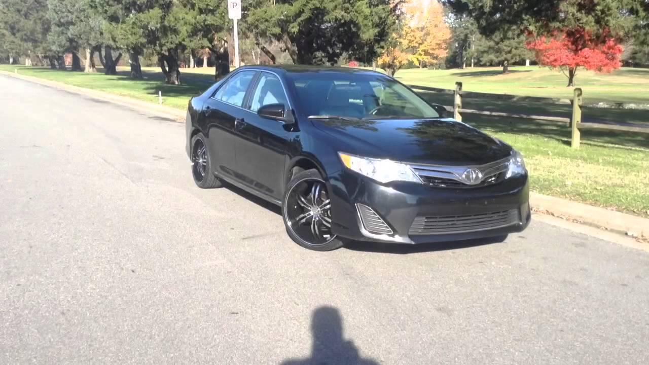 2014 Toyota Camry Rimtyme Durham On 20 Black And Machined Vct