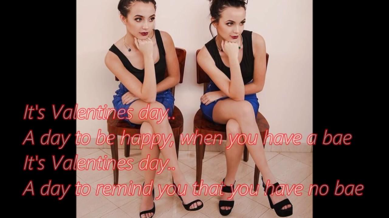 Valentines Day song Lyrics Merrell Twins