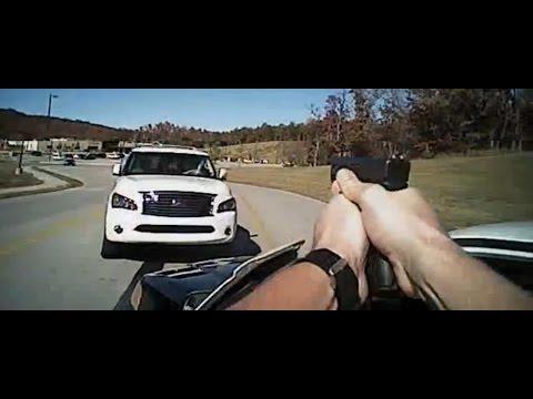 Sand Springs Police Department Shooting   Stolen SUV Rams Police Car   Dramatic Suspect Crash