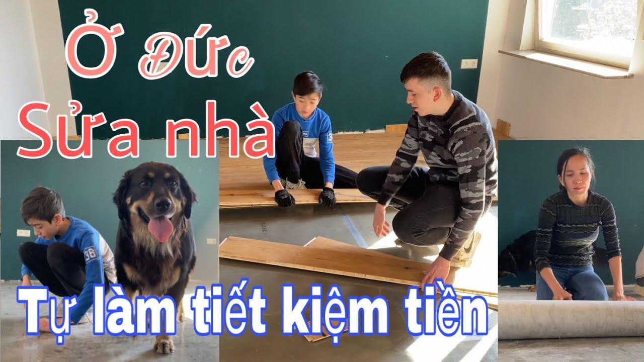Download Sửa nhà mới, hai anh em phụ mẹ tháo sàn nhà   gia đình Việt Đức   Cuộc sống ở Đức