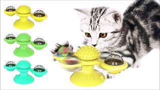Windmill Cat Toy Chewy, Cat Toy, Spinning Windmill Cat Toy Turntable, Catnip Toy, Spinning Cat Toy