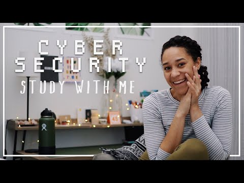 Study With Me // Cyber Security College Student