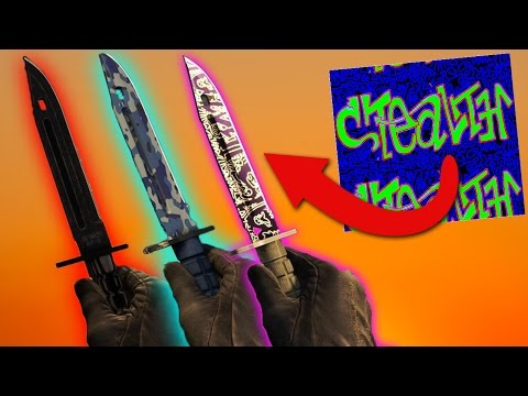 All Freehand, Black Laminate, & Bright Water Knives Gameplay + Pattern Info (CS:GO)