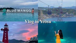 vlog. 2박3일 여수여행 브이로그 (블루망고 리조트…