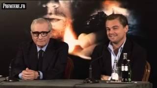 Leonardo DiCaprio et Martin Scorsese en promo à Paris tentent de garder leur sérieux.
