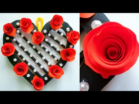 Diy paper flower wall hanging /Simple and beautiful wall hanging/Wall decoration by KovaiCraft #42