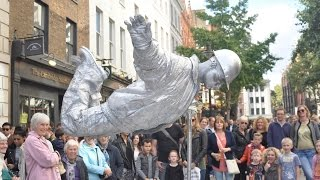 Silver man secret revealed from start to finish, floating and levitating trick thumbnail