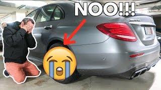 MY DAD CRASHED MY NEW E63 AMG *WTF!!!*