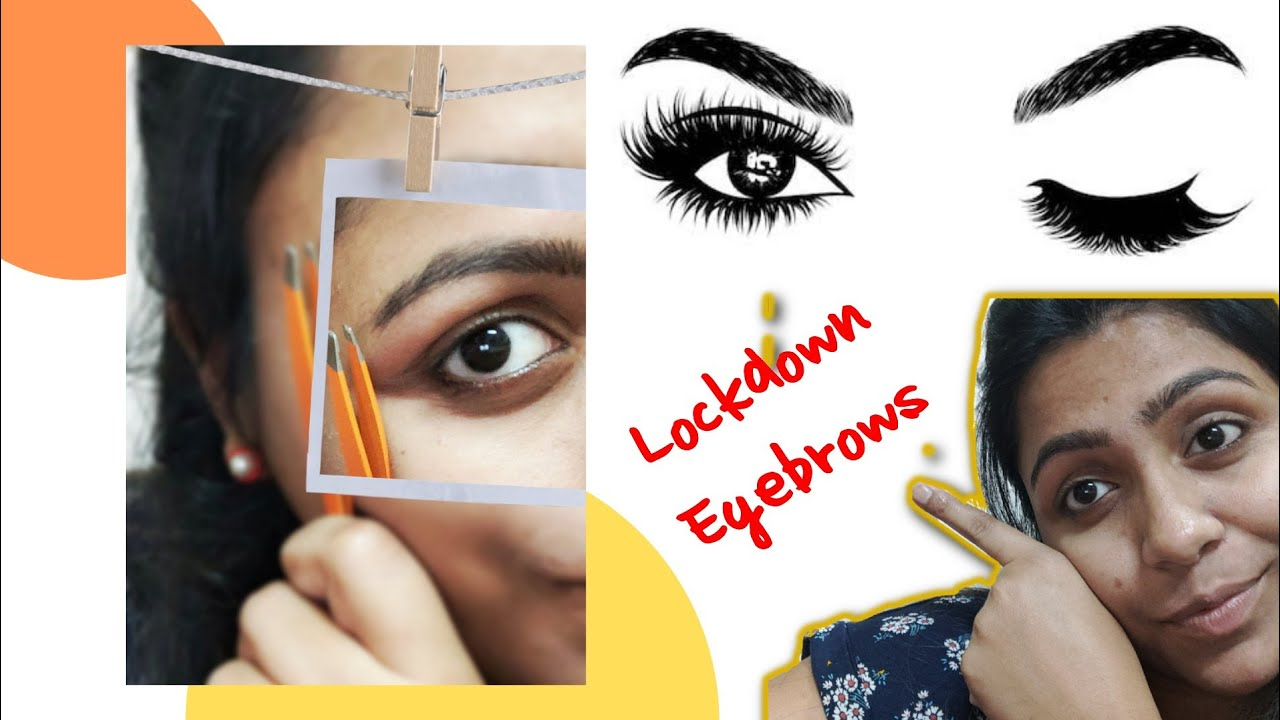 EYEBROW at home/ THICK to THIN/ Easy & fast method ...