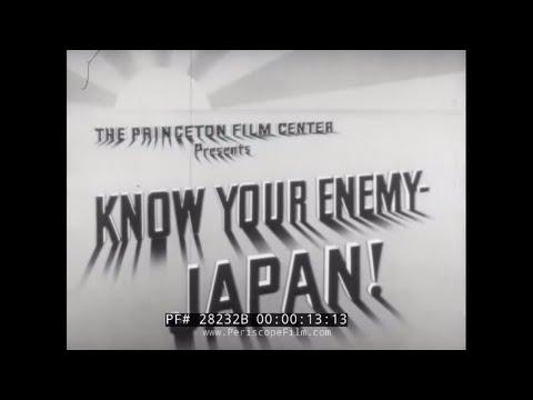 """KNOW YOUR ENEMY JAPAN!"" WWII TRAINING & PROPAGANDA FILM  28232B"