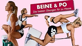 Komplettes Beine/Po Homeworkout zum mitmachen | Zuhause trainieren wie im Gym mit Sophia Thiel