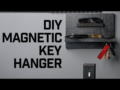 HOW TO // DIY Magnetic Key Hanger
